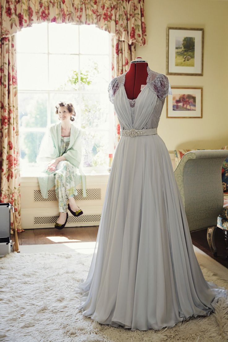 An Elegant Grey Chiffon Wedding Dress for a Spring Handfasting Ceremony | Love My Dress® UK Wedding Blog