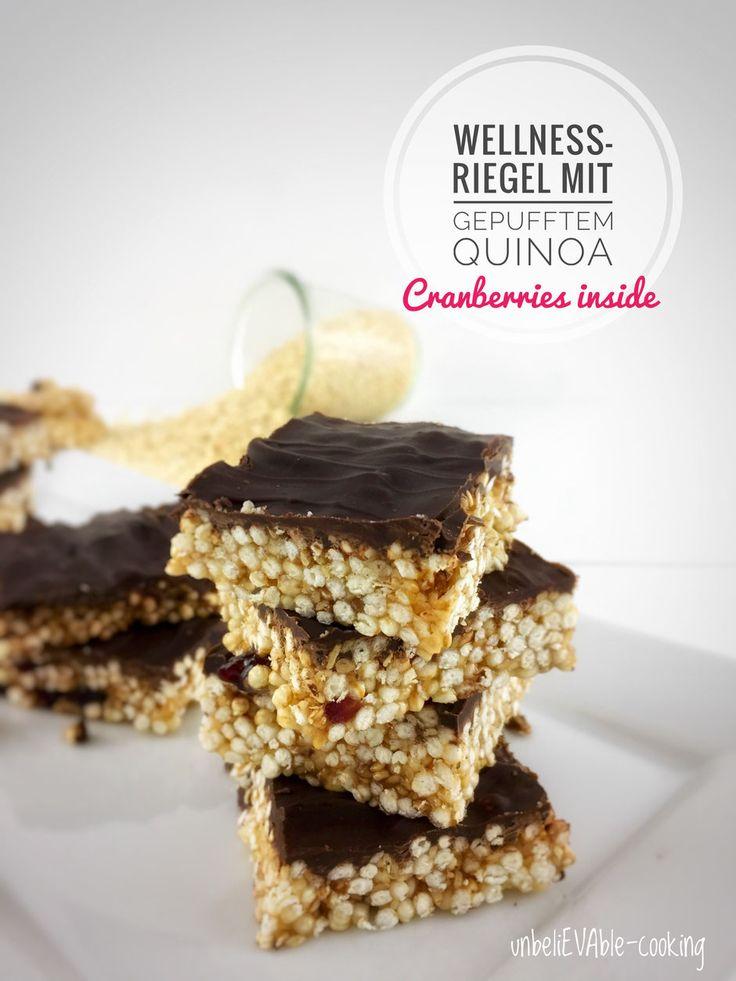 Wellness-Riegel mit gepufftem Quinoa