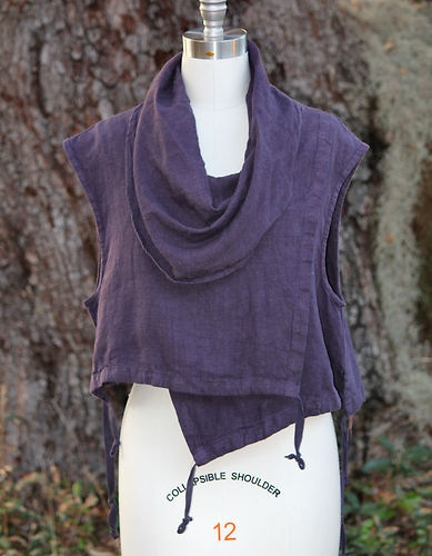 Bryn Walker Heavy Flax Linen Pennie Vest Lagenlook s M M L L XL XL Masquerade | eBay