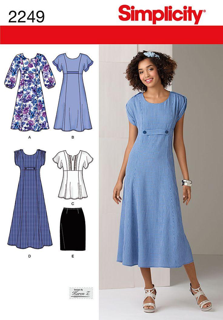 S2249 Misses' & Plus Size Dresses