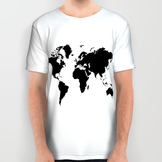 Buy Black and White world map All Over Print Shirt by haroulita. Worldwide shipping available at Society6.com. Just one of millions of high quality products available.