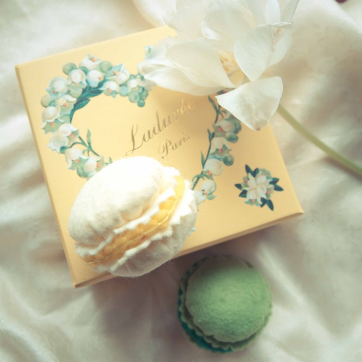 Handmade by Martha Stark tags: #handmade #marthastark #macarons made of #felt #decoration #rekodzielo #bead #thread #colourful #fancywork #laduree #paris