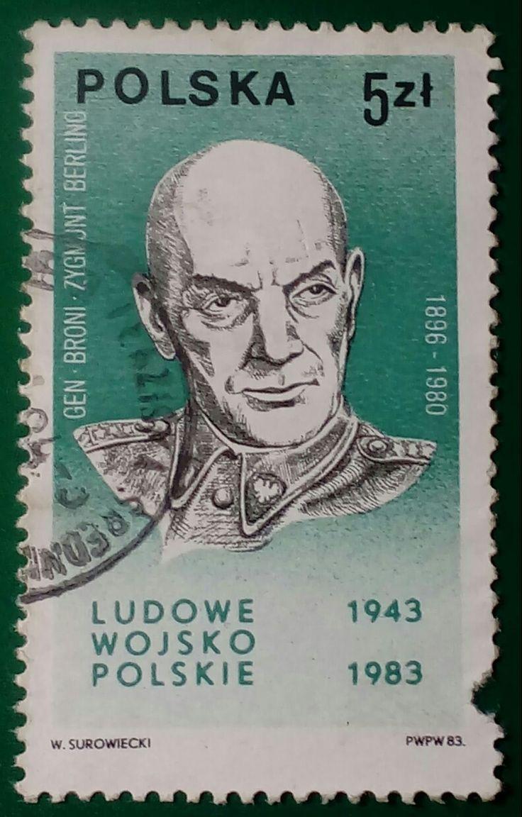 "Stamp 1983 ""Zygmunt Berling"", Poland"