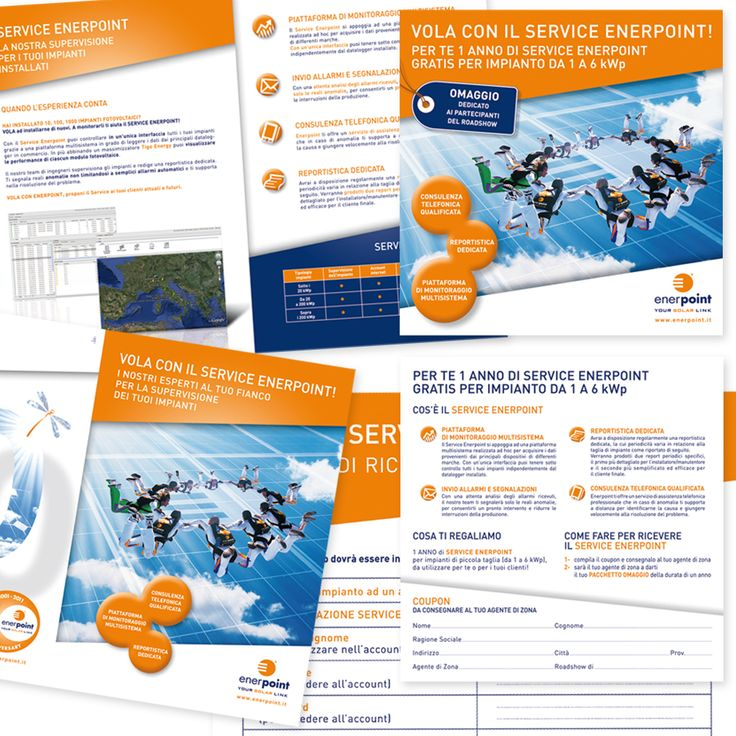 ENERPOINT - Brochure di Prodotto - Modulo Richiesta Attivazione - Flyer Promo Prodotto - Impaginazione grafica Creativa - fotoritocco