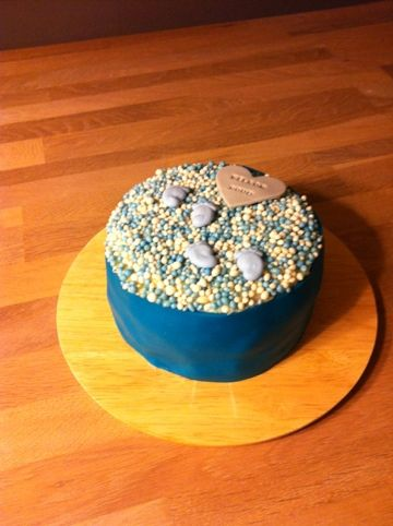 Welcome Noud! Cake for the birth of a baby boy!