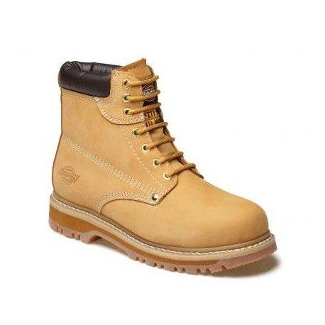 Chaussures hautes de sécurité en cuir Cleveland Dickies Semelle antirapante, thermoresistante et resistante aux huiles. Ces chaussures de sécurité sont conçues pour vous garantir un confort et une sécurité dans toutes vos activités professionnelles notamment pour les travaux agricoles.