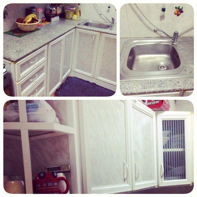 For Sale Kitchen Site Sliver Color Good Condation Price 65 Bd للبيع مطبخ لون رصاصي مع مغسلة مقاس 2 X 140 بحالة جيدة السعر 65 Home Decor Decor Home