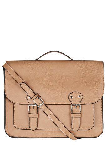 Rose Buckled Satchel Bag