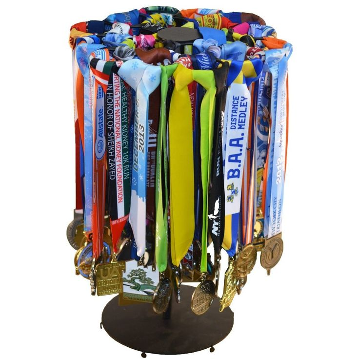 AmazonSmile: GoneForaRun Premier Tabletop Running Race Medal Display - Holds Over 60 Medals: Office Products