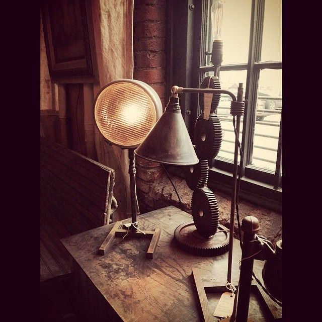 New window display of lighting designed by David Phillips using picks found by American Picker Mike Wolfe . Available at Antique Archaeology Nashville. & 16 best Rustoration Lighting images on Pinterest   American ... azcodes.com