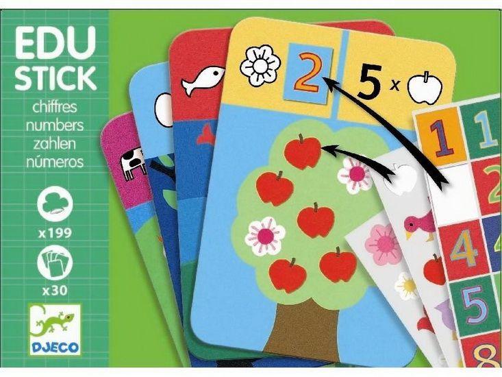 Если ваши детишки любят цифры, умеют считать, но еще не в состоянии их написать, им понравятся эти карточки. Играть очень просто: Скачать здесь. В архиве карточки формата 10х15 и 2 листа с наклейками формата А4. Сразу скажу, не знаю, как вы будете решать вопрос с наклеиванием мелкоты....