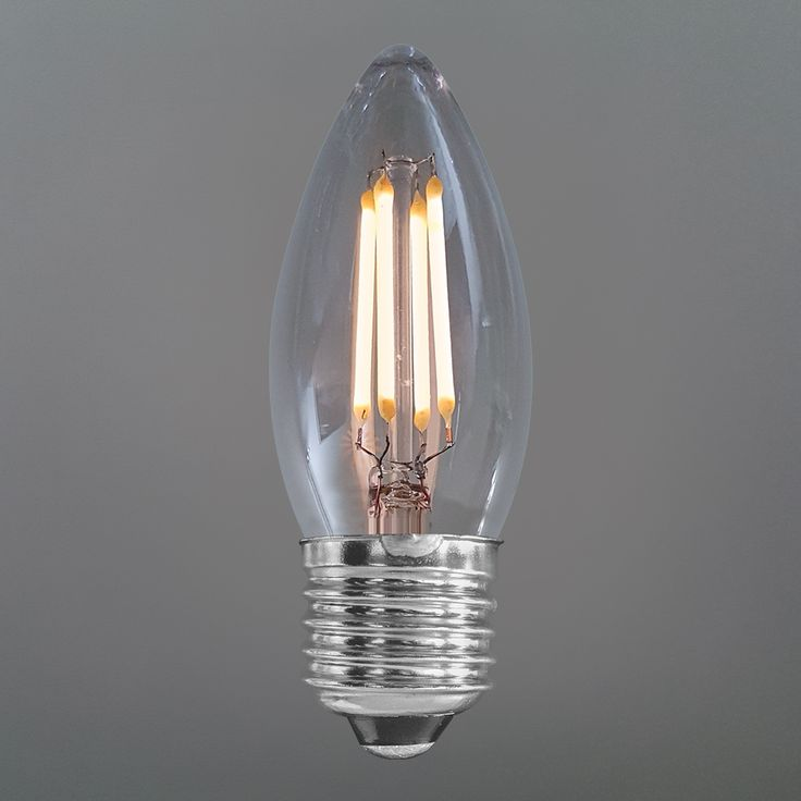 4 Watt Candle Clear LED Filament Bulb (E27)