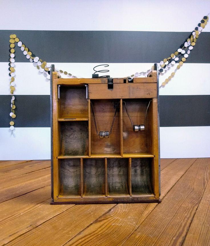 Wooden Cash Register Drawer; National Cash Register Co Parts; Storage & Organization; Vintage Industrial; Antique Cash Register Money Drawer by LynnMichelleDesign on Etsy