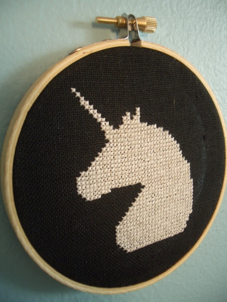 Could do with any silhouette...  unicorn cross stitch wall art -- free shipping --. $32.00, via Etsy.