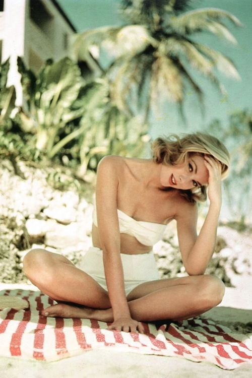 Grace Kelly by Howell Conant in Montego Bay, Jamaica, 1955