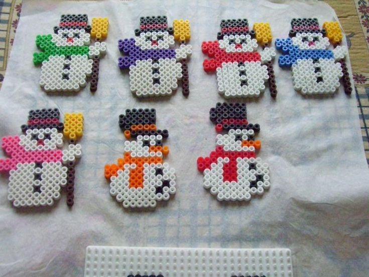 Snowmen hama perler by aline582