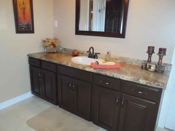 behr paint in french roast bath cabinetskitchen - Behr Paint Kitchen Cabinets