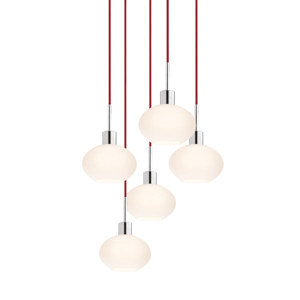 Glass Pendants Demi Oval 5 Light Pendant By Sonneman