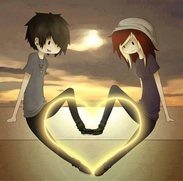 Emo anime couple cute couples drawings pinterest - Cute anime couple pictures ...