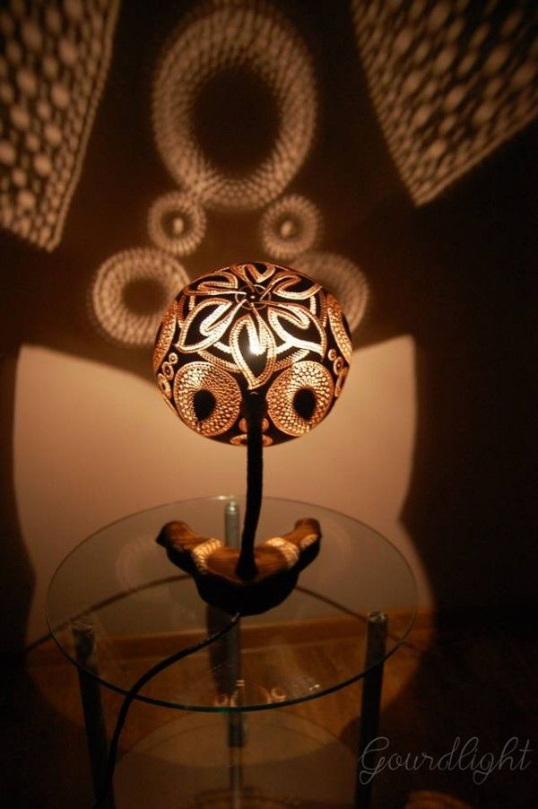 Handcrafted Gourd Lamps By Gourdlight   Ego   AlterEgo