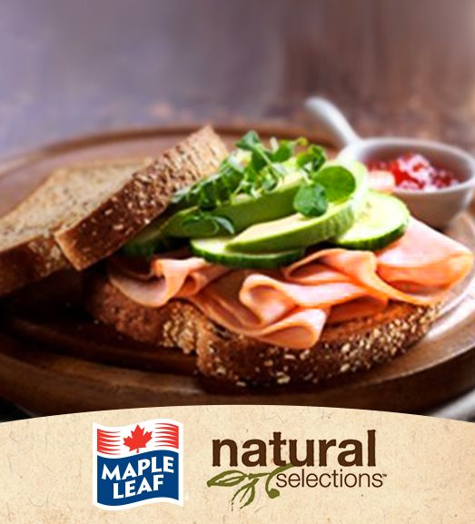 Turkey, Avocado, and Sprout Sandwich #NaturalSelections @MapleLeafFoods