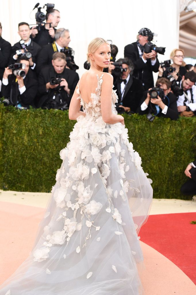 The 2016 Met Gala Red Carpet: Karolina Kurkova in Marchesa