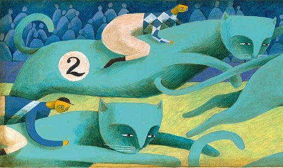 Cat racing. Print Thesmokingcat    Carlos c. Laínez