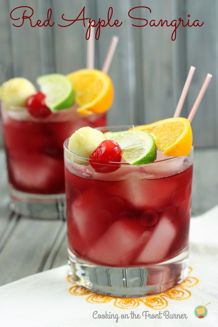 Red Apple Sangria - perfect fall drink by Cooking on the Front Burner