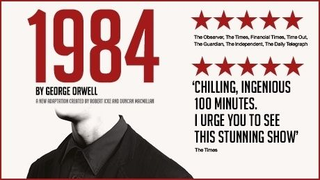 1984 Tickets at Playhouse Theatre, West End