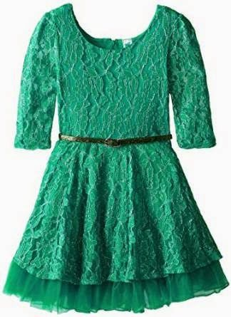 lace dress: Green Lace Dress