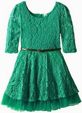 lace dress: Green Lace Dress