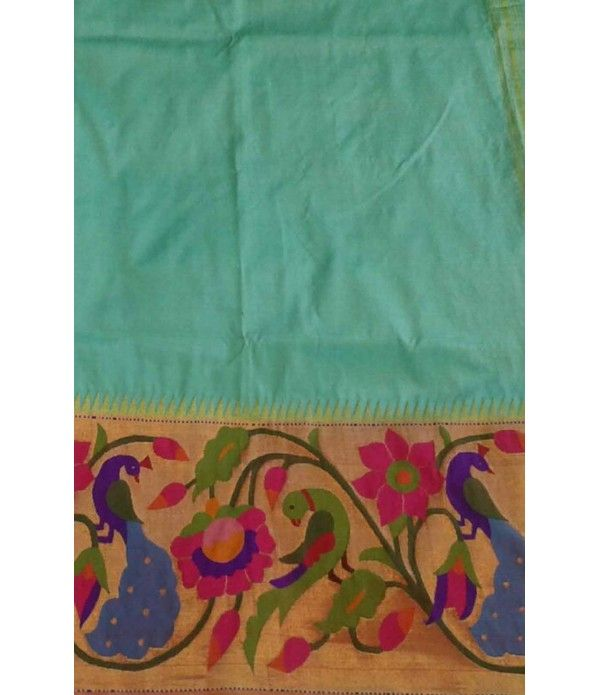 Light Green Handloom Paithani Saree