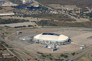 Dallas, Texas - The old Texas Stadium in Irving to see the Cowboys play. It's been demolished now.