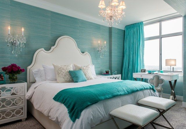 Looking for a cool color paint for your bedroom? Browse photos for aqua blue bedroom design and decor ideas. Go ahead get inspired!