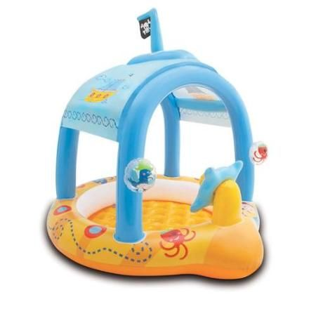 INTEX Lil' Captain Pirate Ship Kids Inflatable Baby Wading Pool | 57426EP