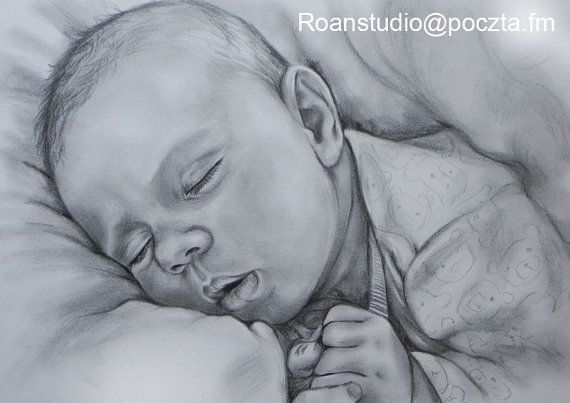 PERSONALIZED  DRAWING  Commision pencil portrait  by RoanStudio, zł100.00