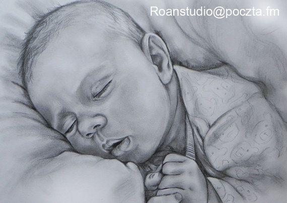 PERSONALIZED  DRAWING  Commision pencil portrait  by RoanStudio, zł100.00