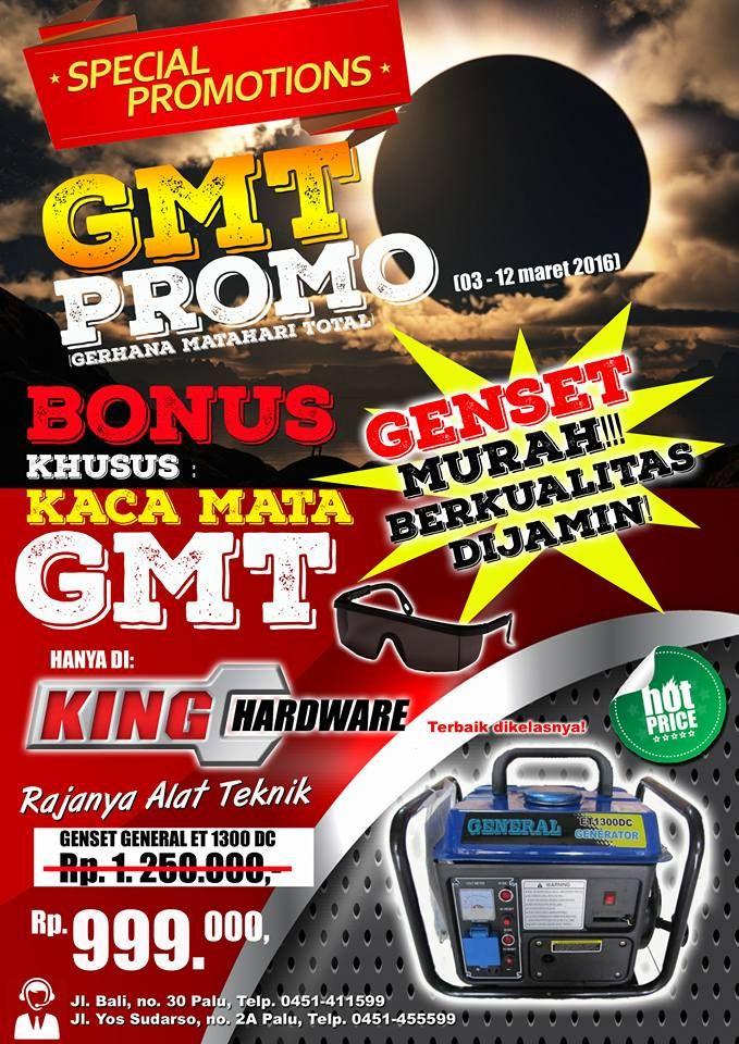 king hardware promo gmt genset murah berkualitas