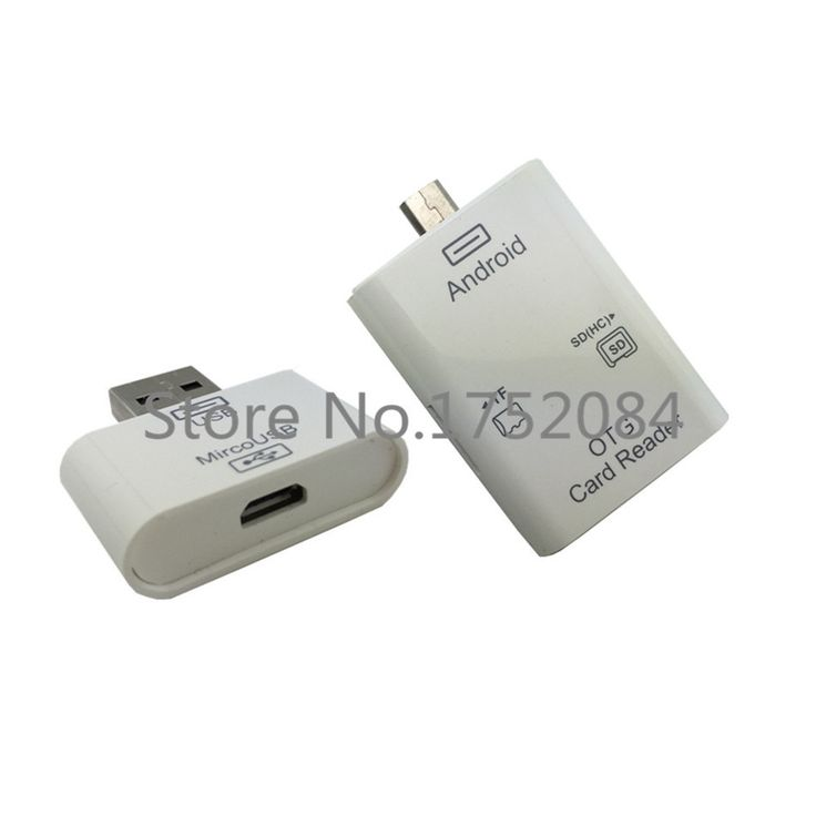 High Quality 2015 NEW OTG Card Reader Adapter For Android Phones And PC 2.0 lector de tarjetas USB SD(HC)/MMC/TF Memory Cards