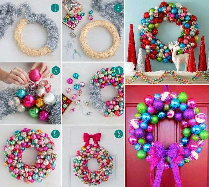 Diy Christmas Wreath Christmas Pinterest Diy