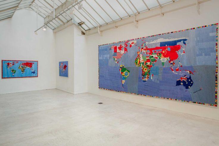 Exposition Alighiero Boetti. Vue de la Galerie Tornabuoni Art Paris.