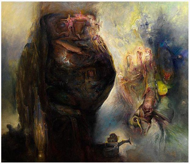 The Ubu diptych- Ubu regnant, 2004
