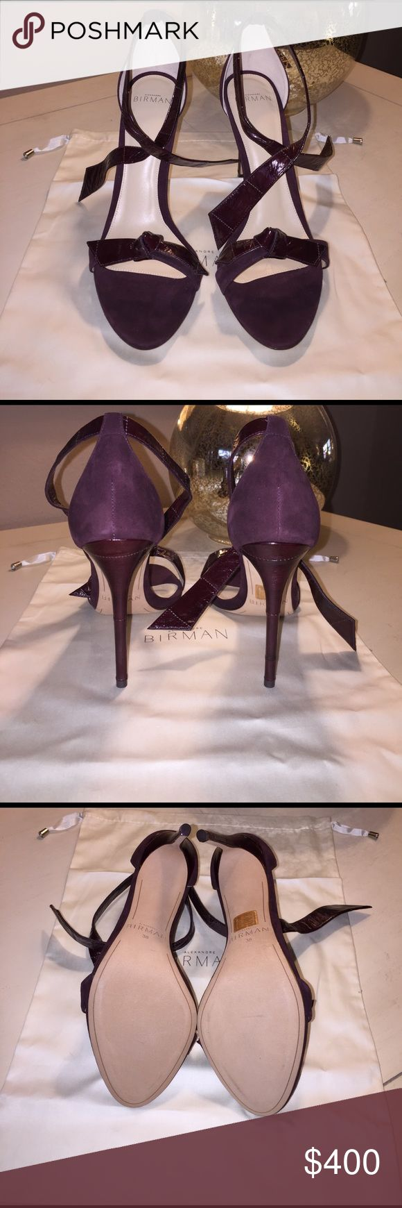 Alexandre Birman Clarita shoes size 38 Alexandre Birman size 38 Clarita suede ankle tie sandals. Never worn, 4 in heel (100mm) a tad too small for me. If you are an American size 7 or 7 1/2 they should fit you perfectly. looking for a new home :( Alexandre Birman Shoes Heels