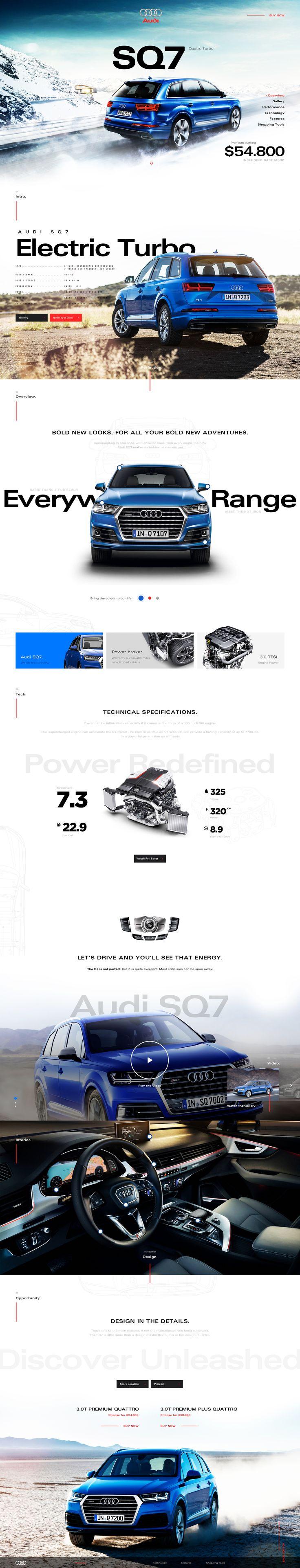 Automotive web websiste inspiration design
