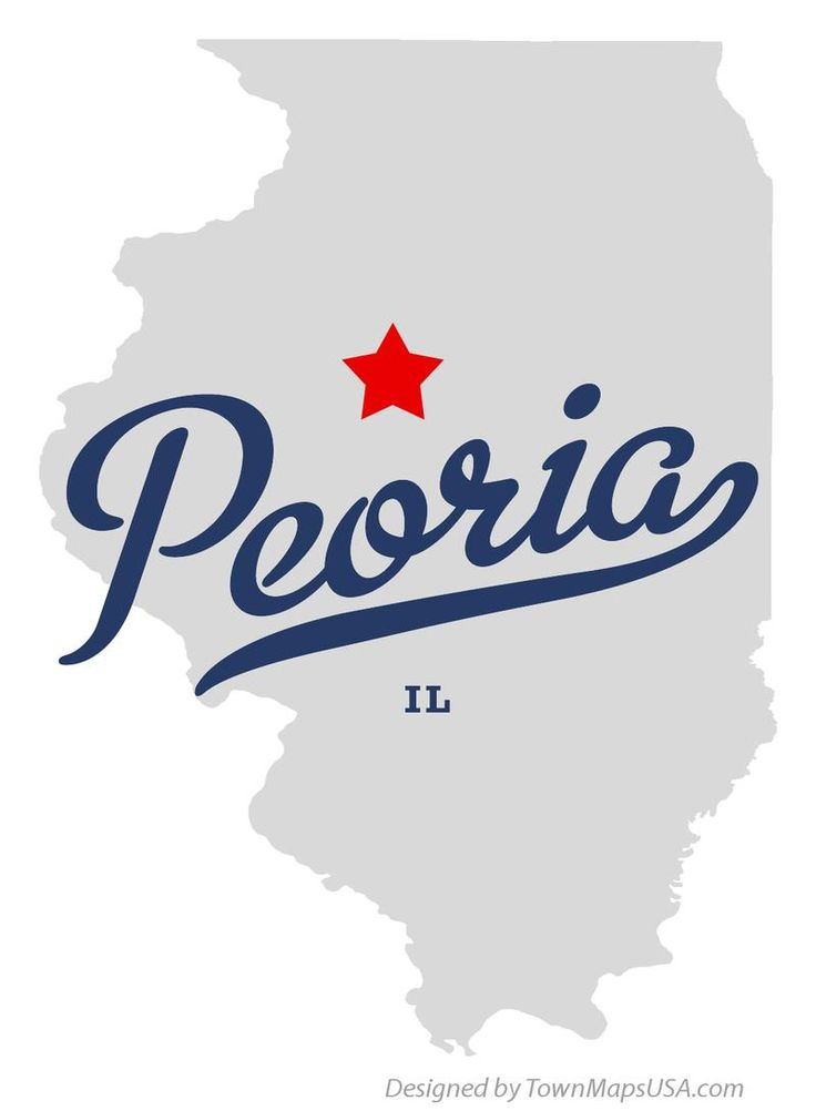 map of peoria illinois il