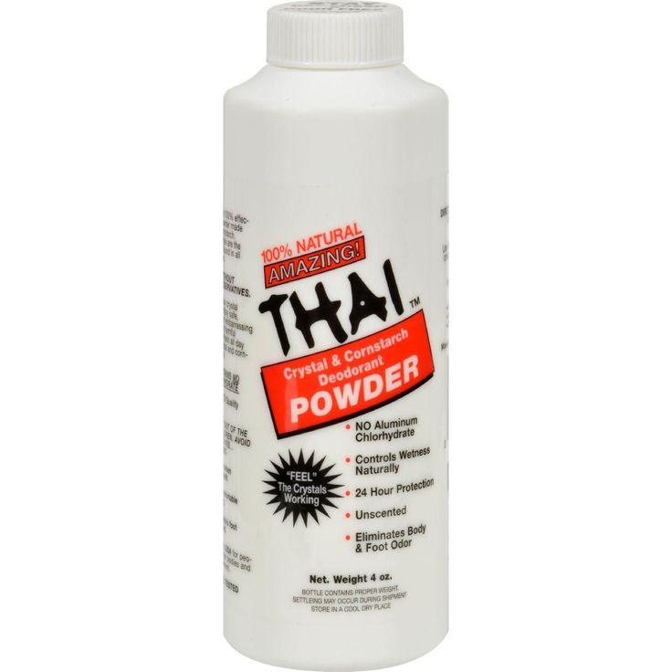 Thai Deodorant Stone Crystal And Corn Starch Deodorant Body Powder - 3 Oz