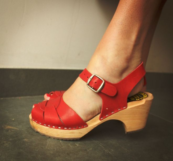 Lotta from Stockholm peep toe clog sandals