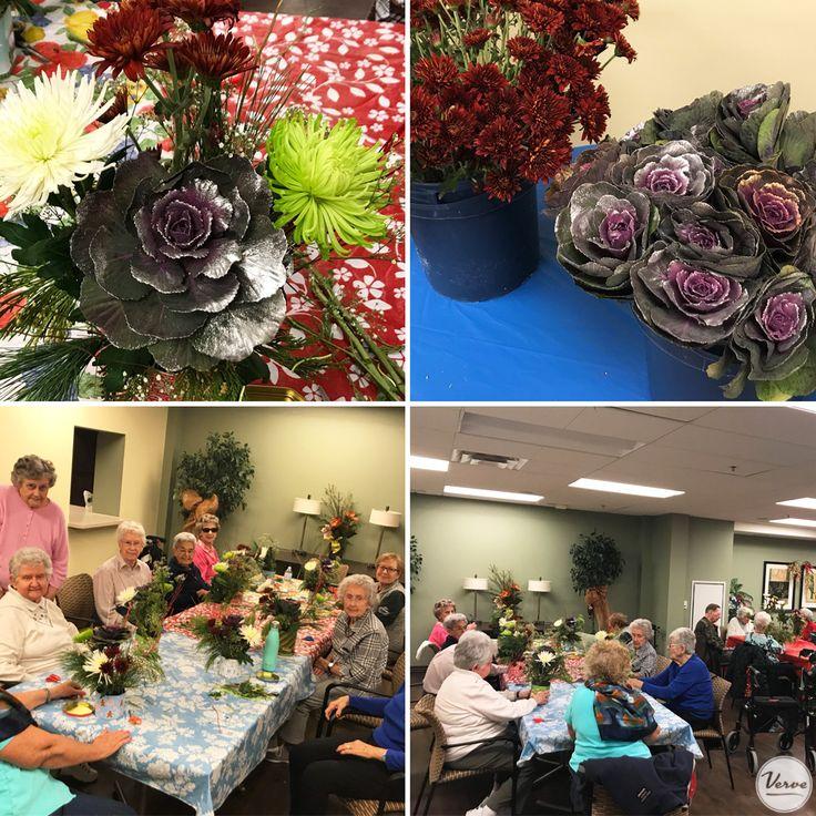 Our residents & community members enjoyed creating festive holiday arrangements! #verveseniorliving #freshflowers #holidayspirit #richmondhillretirement