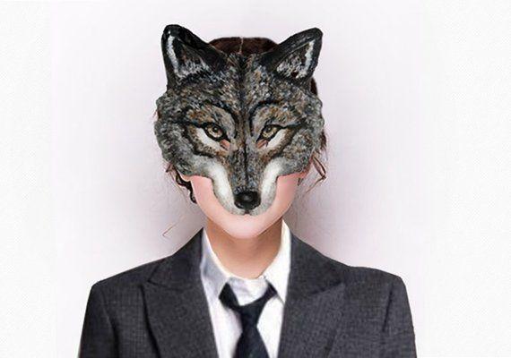 Halloween mask Animal Wolf Head mask Masquerade mask
