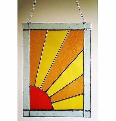 Stained-Glass-Sun-Panel-Suncatcher-Window-Wall-Decoration-Sunburst